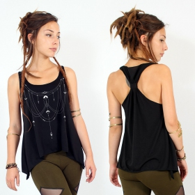 ""\""""Paalayan"""" knotted tank top, Black and silver""280|280|?|en|2|40fc19123bef38d4b5a732a041f3e26f|False|UNLIKELY|0.320212721824646