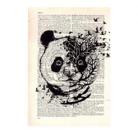 "\""Panda\"" mini poster"
