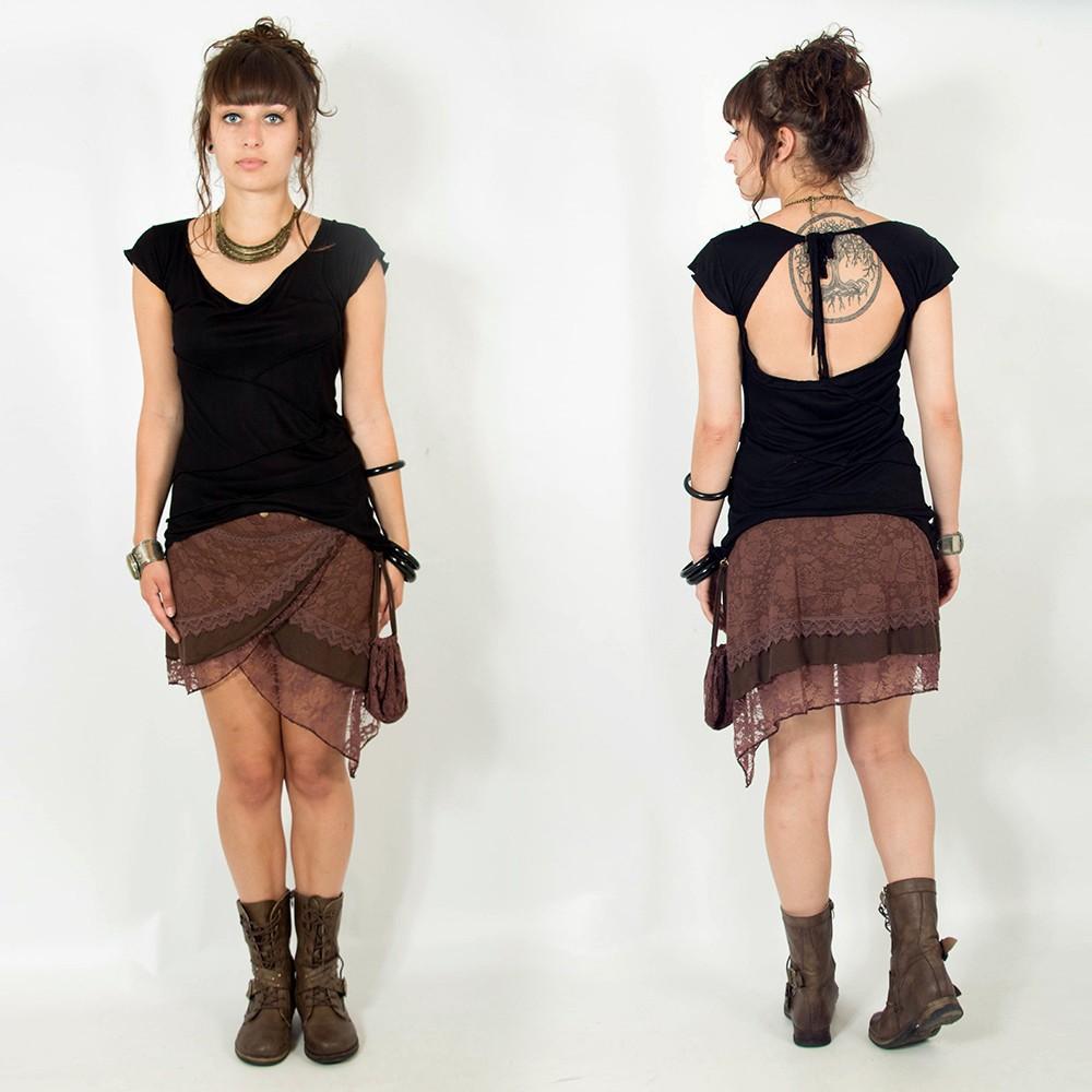 "\""Payoja\"" skirt, Brown"