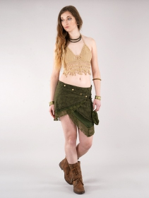 """Payoja\"" skirt, Khaki green"