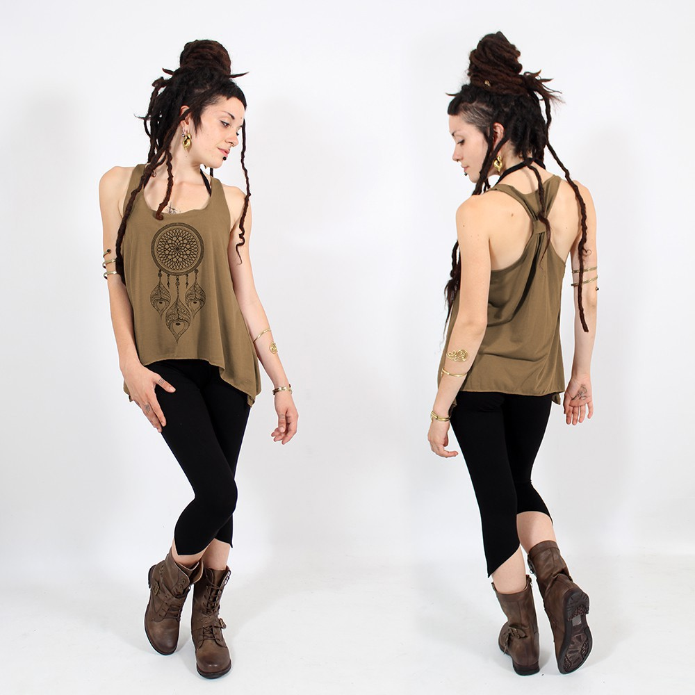 ""\\""""Peacock dreamcatcher\"""" knotted tank top, Black and gold""1000|1000|?|en|2|99e7685f4ede4859ad76c59796e8ac79|False|UNLIKELY|0.3218582272529602