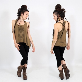 ""\\""""Peacock dreamcatcher\"""" knotted tank top, Black and gold""280|280|?|en|2|4bc3a532e7e4a865ee38c4311d18fbab|False|UNLIKELY|0.335050106048584