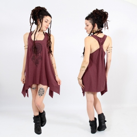 ""\\""""Peacock dreamcatcher\"""" knotted tunic, Mottled wine and black""280|280|?|en|2|dc4c9144d341ffb0e63e9b61252b7a22|False|UNLIKELY|0.28089556097984314