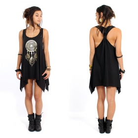 ""\""""Peacock dreamcatcher"""" knotted tunic, Mottled wine and black""280|280|?|en|2|fafb434477e8242b70455f035793e9ed|False|UNLIKELY|0.28961873054504395