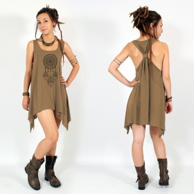 """Peacock dreamcatcher\"" knotted tunic"