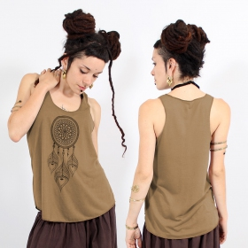 ""\\""""Peacock dreamcatcher\"""" tank top, Brown and black""280|280|?|en|2|3ae16d19c4c33009253210f21a487059|False|UNLIKELY|0.3472917973995209