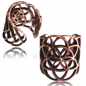 """Peetal Flower of Life\"" ear cuff"