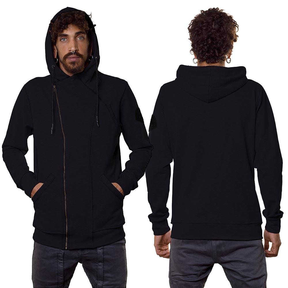 "\""PF02\"" zipped jacket, Black"