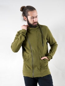 """PF02\"" zipped jacket, Khaki green"