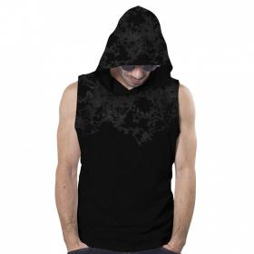 "PlazmaLab \""Cyberis\"" hooded T-shirt, Acid black"