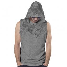 "PlazmaLab \""Cyberis\"" hooded T-shirt, Acid grey"