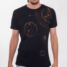 "PlazmaLab \""Magic circle\\\"" T-shirt, Black"