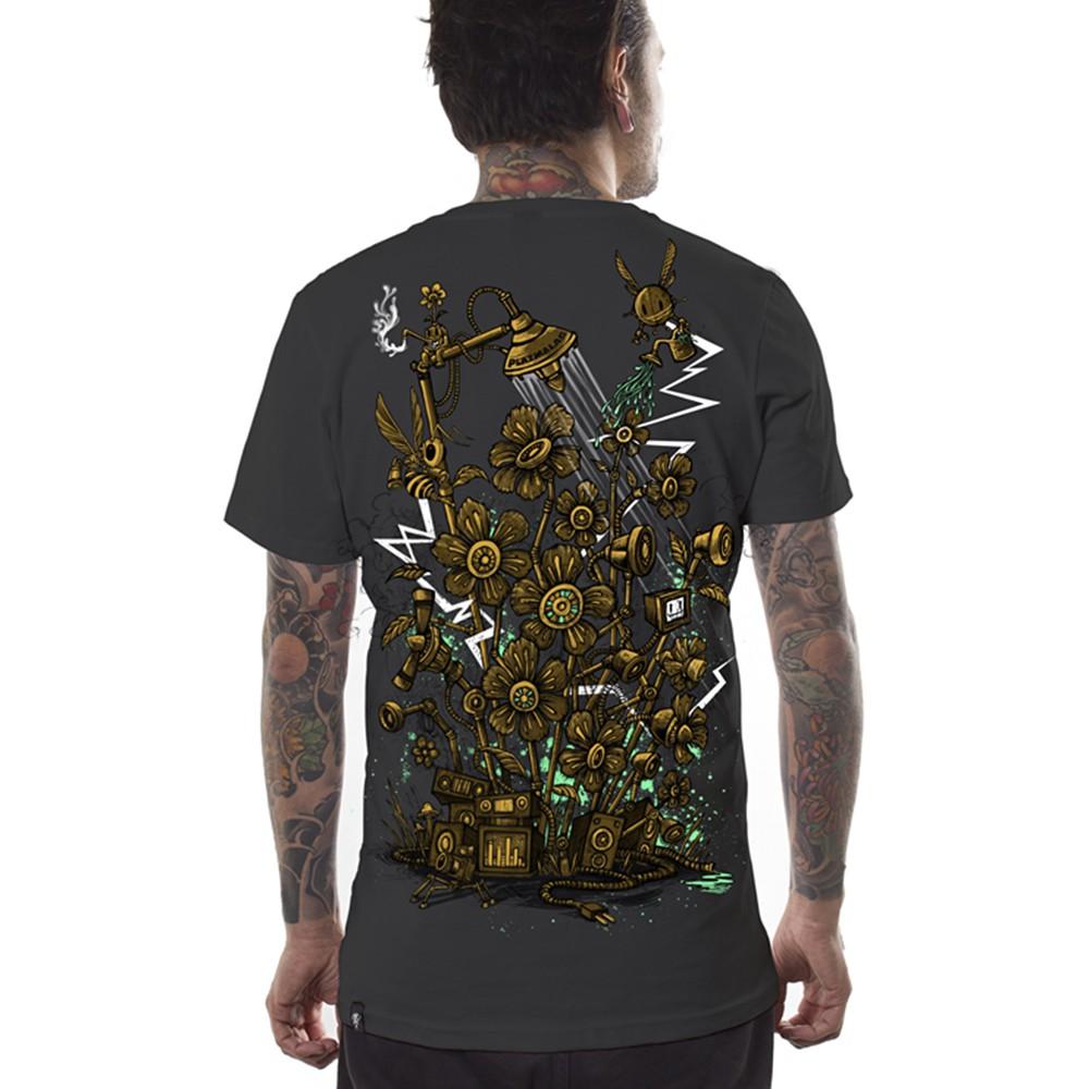 """PlazmaLab \""""Sound garden\"""" T-shirt, Dark grey"""