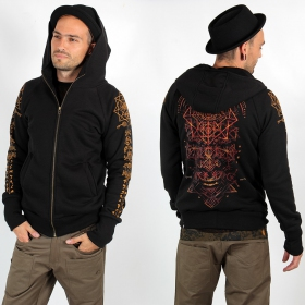 "PlazmaLab zipped hoodie \\\""Emet\\\"", Black"