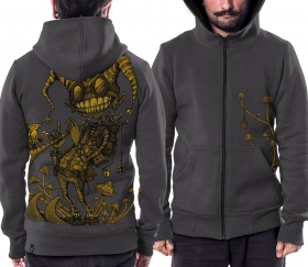 "PlazmaLab zipped hoodie \\\""Fiddler\\\"", Grey"