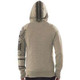 "PlazmaLab zipped hoodie \\\""Mauri\\\"", Beige"