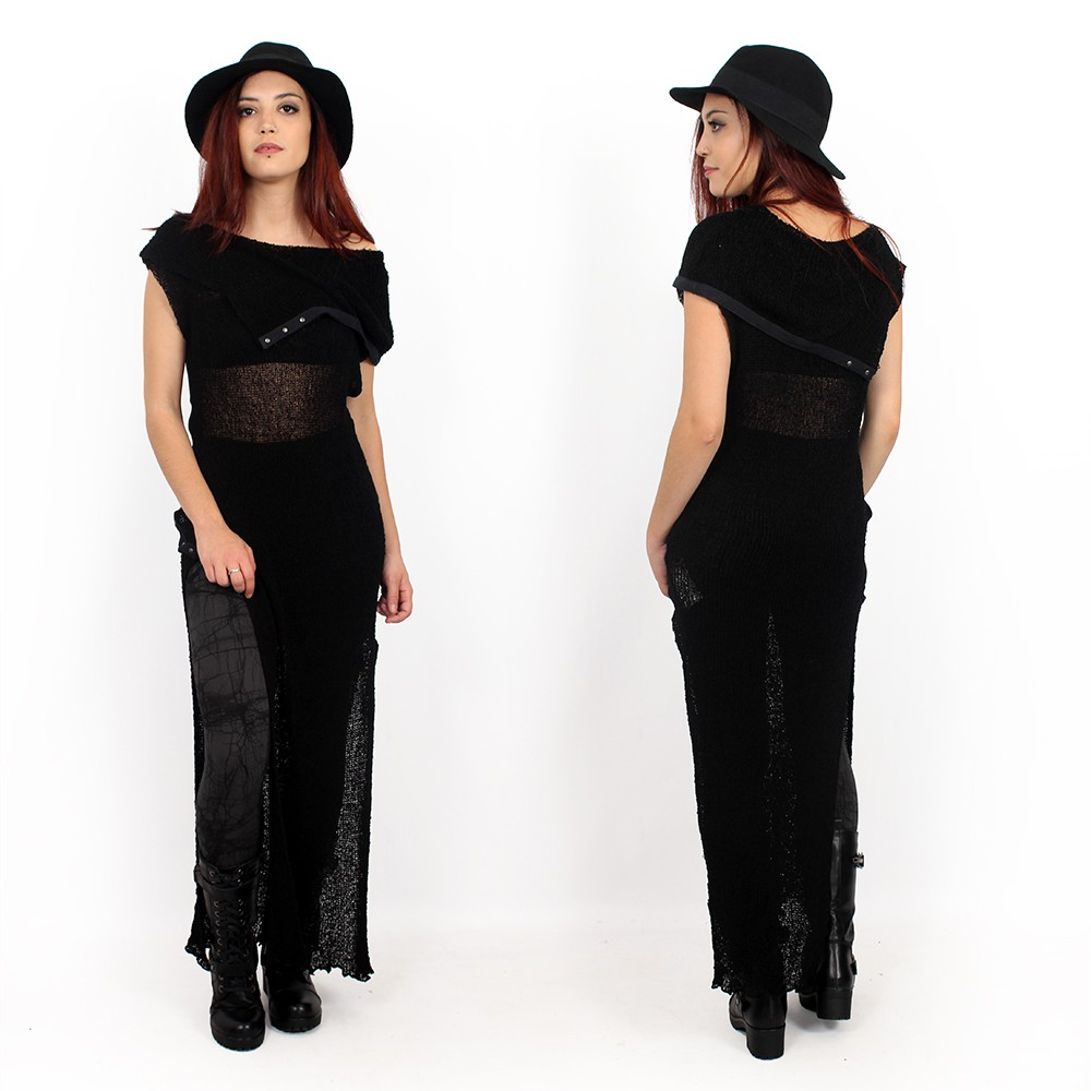 """Ply\"" knitted dress, Black"