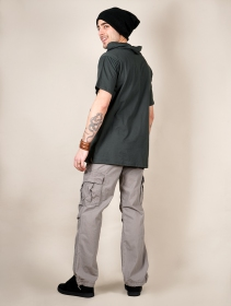 """Pollux\"" t-shirt, Charcoal and black"