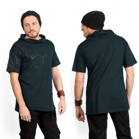 """Pollux\"" t-shirt, Darkteal and blue"