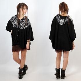 """Poncho \""""Kamboja\"""", Black pattern2 one size"""