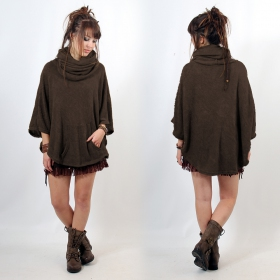 "Poncho Witch ""Taraka\"", Brown one size"
