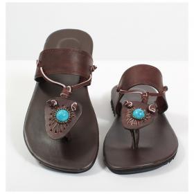 "Pream flip-flops \""Mangala\"", Dark brown"