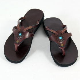 "Pream flip-flops \""Pallavi\\\"", DarkBrown"