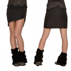 "Psylo \""Zip\"" mini skirt, Black"