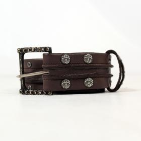 "Psylo Belt \""Double Kris\"", Brown"