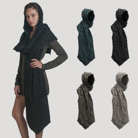 "Psylo Hooded Scarf ""Tosca\"""