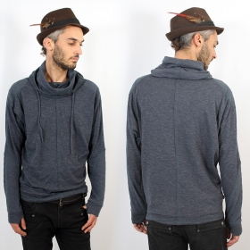 "Psylo Hooded Sweater ""Space Jumper\"", State blue"