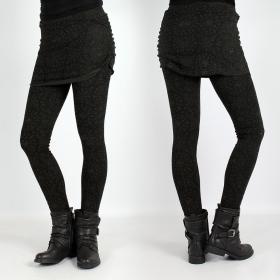 "Psylo long Legging \\\""Isis\\\"", Black and Khaki"