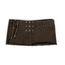 """Psylo mini skirt \""""MiniRemix\"""", Dark olive"""