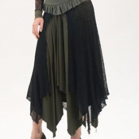 "Psylo Skirt \""Le Remix\\\"", Black kaki"
