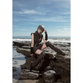 "Psylo Sleeveless Dress \""Soba\"", Black"