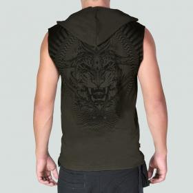 "Psylo Sleeveless T-shirt \""Tiger\"", Olive"