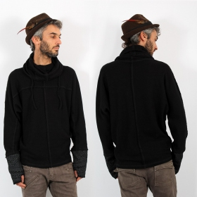 "Psylo Sweater ""Baggy\"", Black"