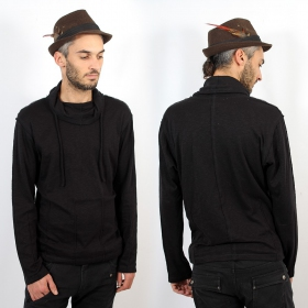"Psylo Sweater ""Pleats Jumper\"", Black"