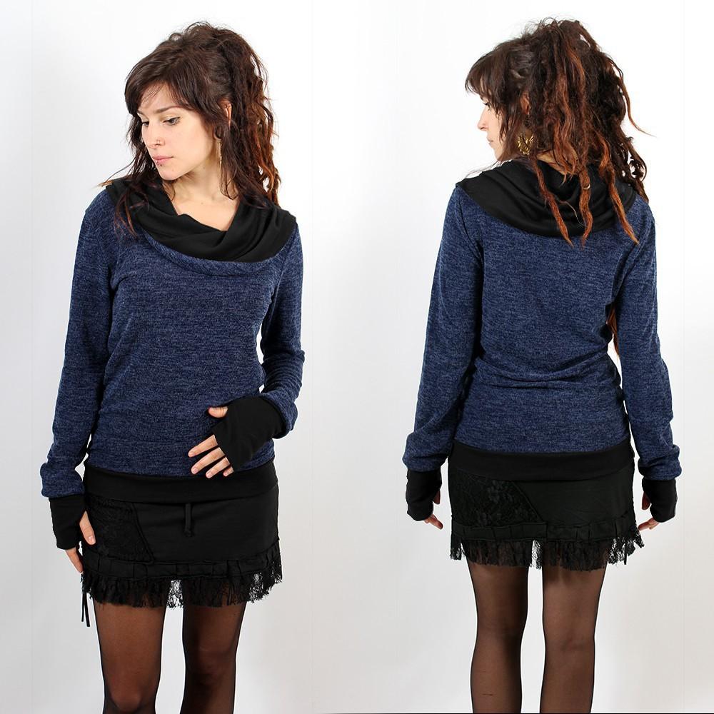 "Pullover Witch \\\""Janjira\\\"", Blue black"