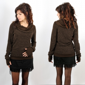 """Pullover Witch \""""Janjira\"""", Brown"""