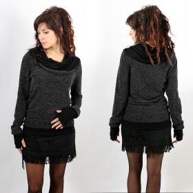 "Pullover Witch \""Janjira\"", Dark grey black"