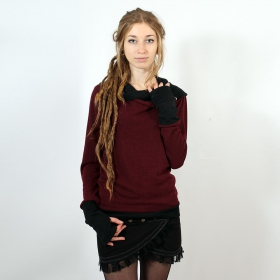 "Pullover Witch \""Janjira\"", Wine black"