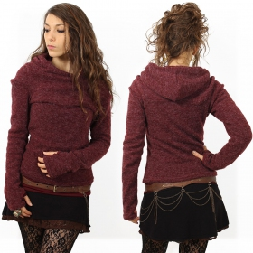 "Pullover witch \""sadiva\\\"", wine"