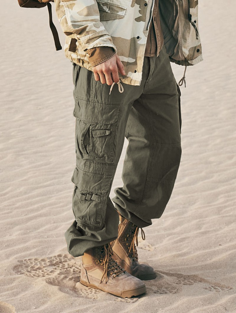 """Pure\"" combat trousers, Khaki green"