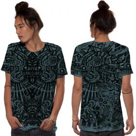 "\""Rabbit\"" t-shirt, Turquoise"