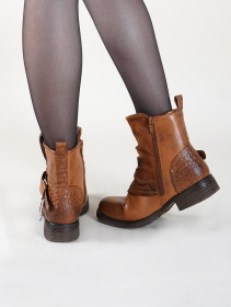 """Rajani\"" boots, Camel brown"