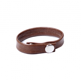 """Raka\"" leather bracelet, Brown"