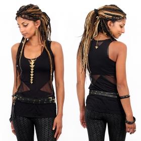 "\""Ravish\"" belt, Black leather"