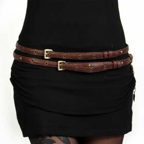 """Ravish\"" belt, Brown - Genuine or faux leather"