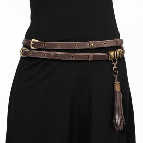 """Ravish\"" belt, Brown leather"
